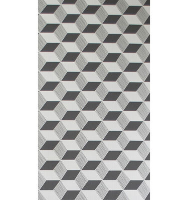 Decoration - Wallpaper & Wall Stickers - Squares Wallpaper - 1 panel by Ferm Living - Balck & silver - Non-woven fabric