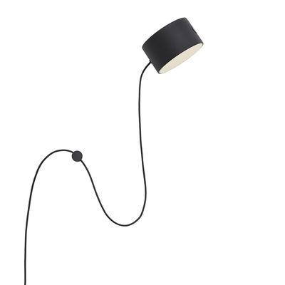 Luminaire - Appliques - Applique avec prise Post / LED - Spot aimanté orientable - Muuto - Applique - Acier laqué