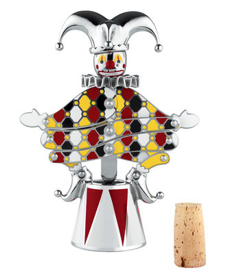 Kitchenware - Kitchen Storage Jars - The Jester Bottle opener - Circus - Numbered limited edition by Alessi - Multicolor - Painted stainless steel