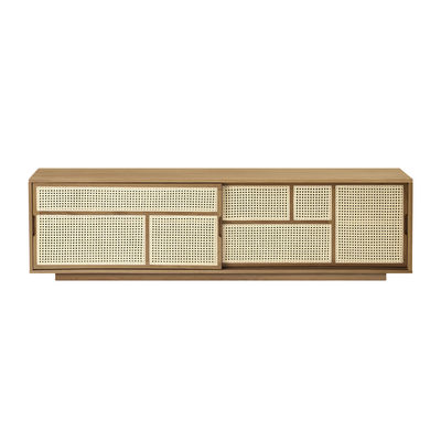 Buffet Air / Meuble TV - Cannage rotin - L 180 x H 50 cm - Design House Stockholm bois naturel en bois