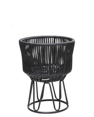 Outdoor - Pots et plantes - Cache-pot Circo  1 / Ø 36 x H 48 cm - ames - Noir / Structure noire - Acier galvanisé thermo-laqué, Fils de plastique recyclé
