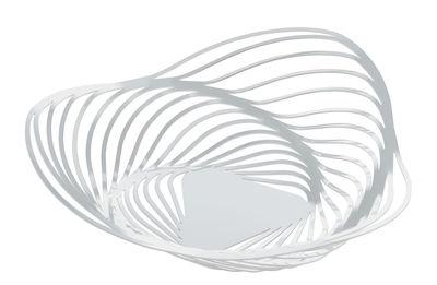 Tavola - Cesti, Fruttiere e Centrotavola - Cesto Trinity - / Ø 26 x H 7 cm di Alessi - Bianco - Acciaio verniciato