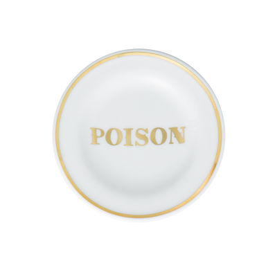Coupelle Poison / Ø 9,5 cm - Bitossi Home blanc,or en céramique