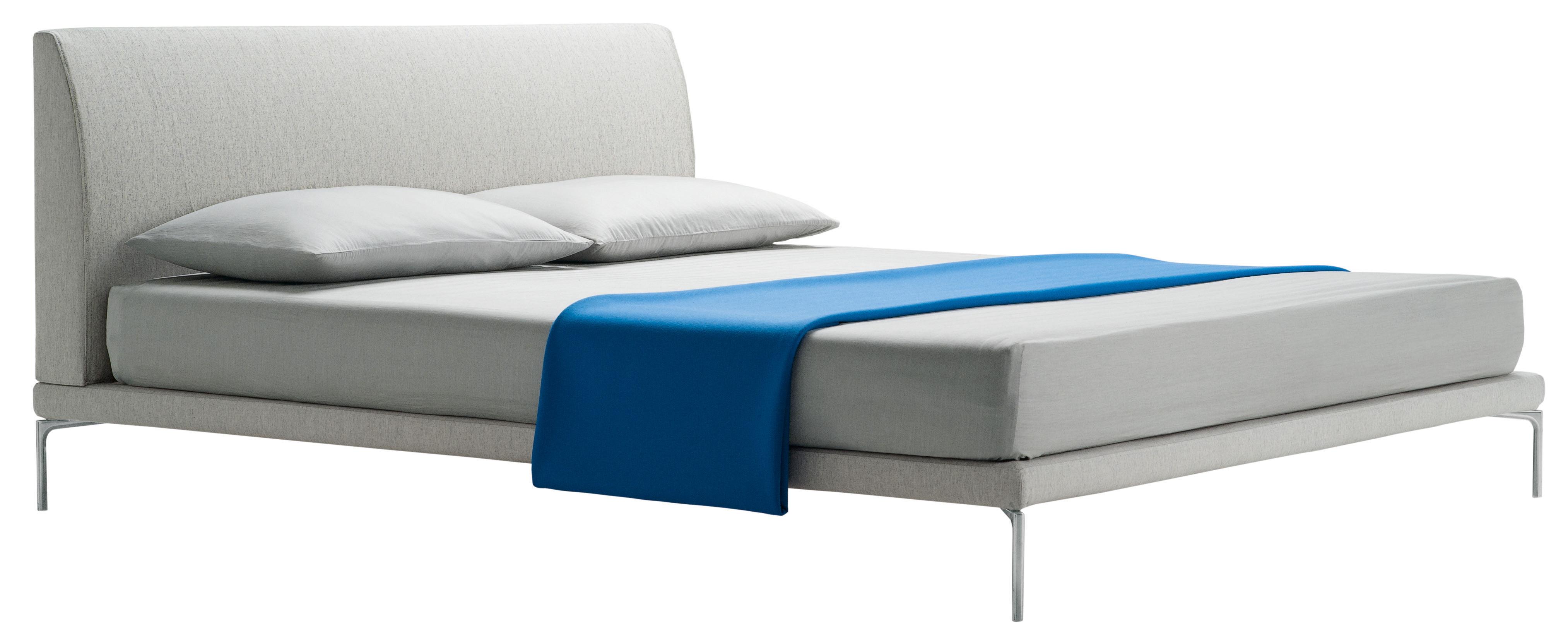 Möbel - Betten - Talamo Doppelbett / 166 x 216 cm - Zanotta - Natur - Gewebe, Metall