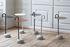 Bowler End table - / Metal & granite by Hay