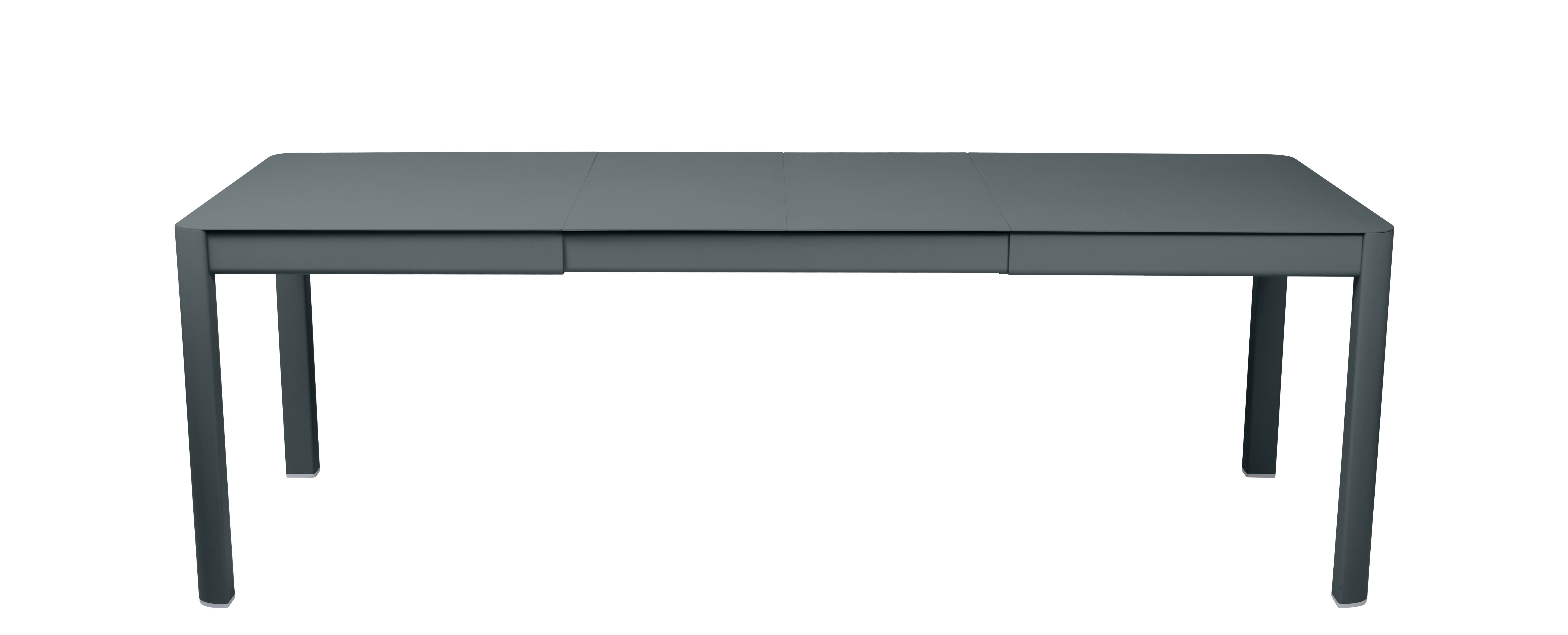 Outdoor - Garden Tables - Ribambelle Medium Extending table - / L 149 to 234 cm - 6 to 10 people by Fermob - Storm grey - Aluminium