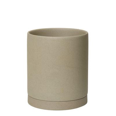Outdoor - Pots & Plants - Sekki Large Flowerpot - / Ø 15.7 x H 17.7 cm - Sandstone by Ferm Living - Sand - Sandstone