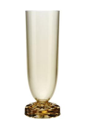 Flûte à champagne Jellies Family / H 17 cm - Kartell vert en matière plastique