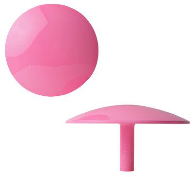 Furniture - Coat Racks & Pegs - Manto Hook - Fluo- Ø 10 cm by Sentou Edition - Pink - Ø 10 cm - Lacquered cast aluminium