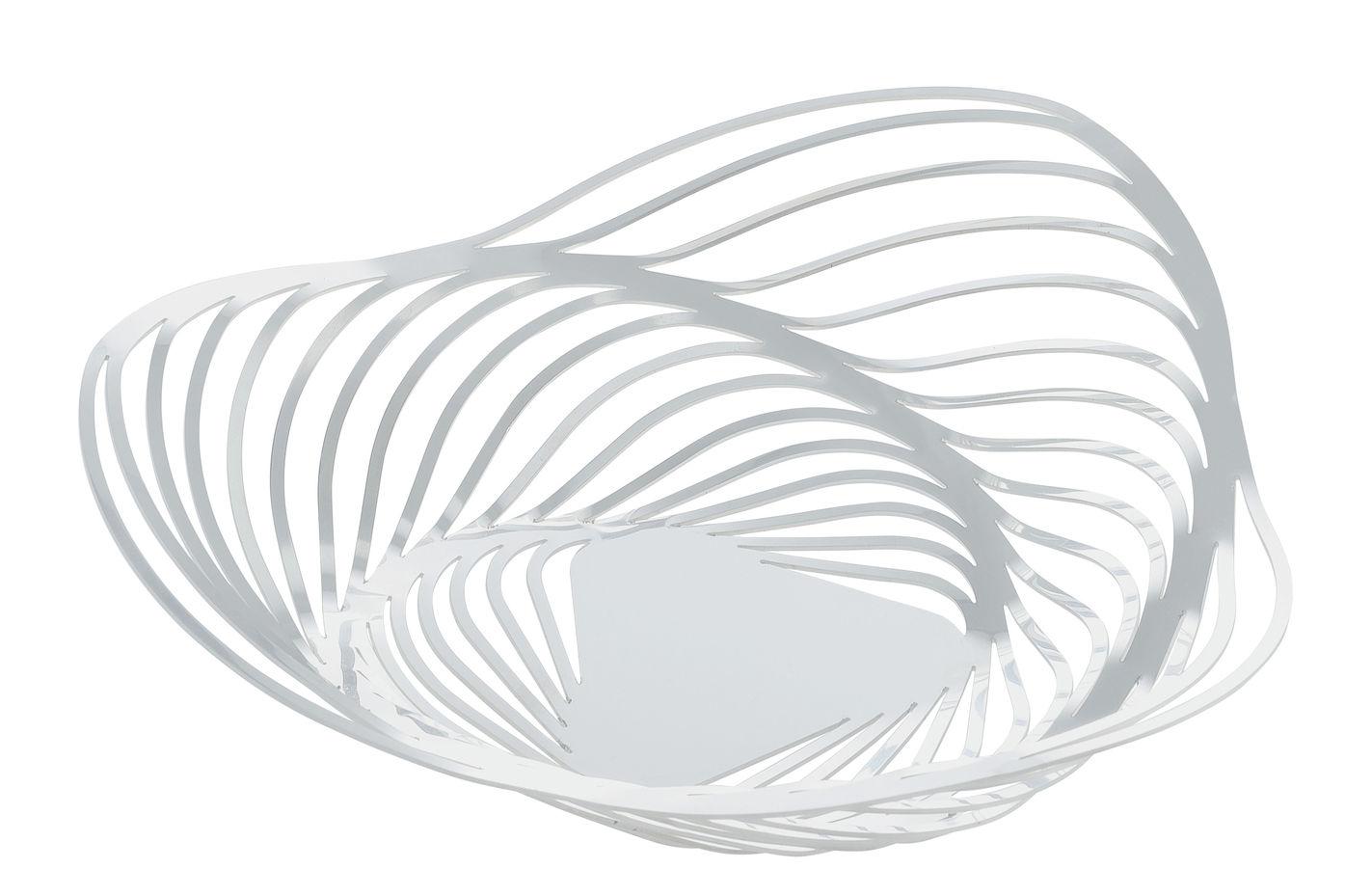 Tischkultur - Körbe, Fruchtkörbe und Tischgestecke - Trinity Korb / Ø 26 x H 7 cm - Alessi - Weiß - bemalter Stahl