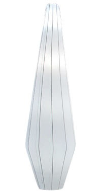 Illuminazione - Lampade da terra - Lampada a stelo Nature - H 170 cm di Dix Heures Dix - Bianco - Acciaio inossidabile, Tessuto elastico