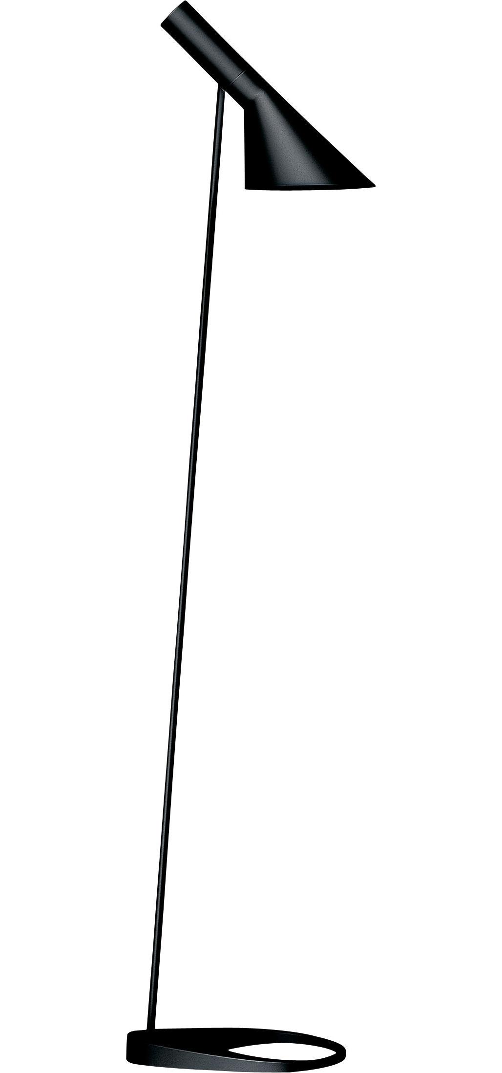 Luminaire - Lampadaires - Lampadaire AJ / H 130 cm - Louis Poulsen - Noir - Acier, Fonte de zinc