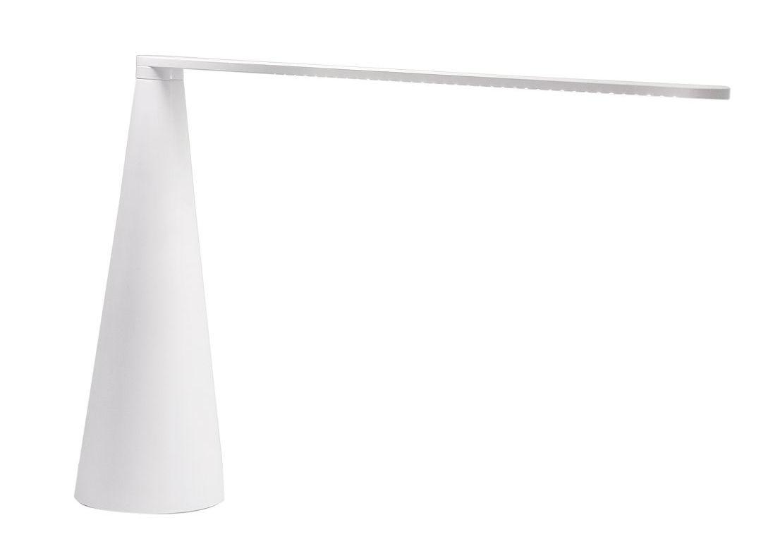 Luminaire - Lampes de table - Lampe de table Elica petit modèle H 38 cm - Martinelli Luce - Blanc - Aluminium