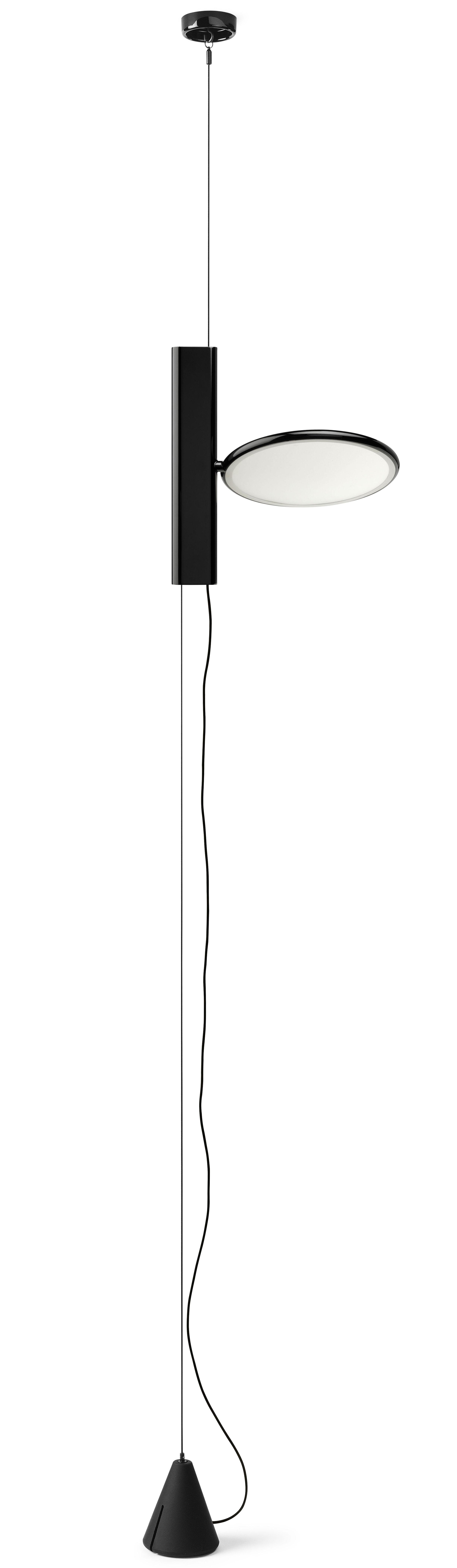 Leuchten - Stehleuchten - OK Lampe zum Aufhängen an der Decke / LED - Flos - Schwarz - Fonte d'aluminium vernie, Polyamid