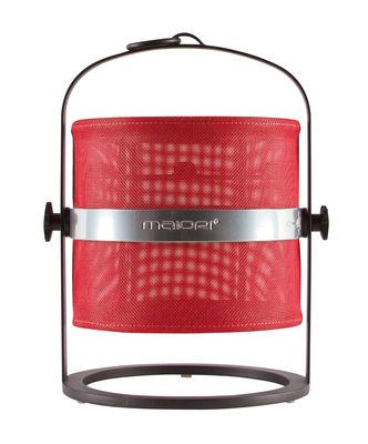 Lampe solaire La Lampe Petite LED / Hybride & connectée - Structure charbon - Maiori rouge,charbon en métal