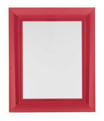 Mobilier - Miroirs - Miroir mural Francois Ghost / Large - 88 x 111 cm - Kartell - Rouge - Polycarbonate