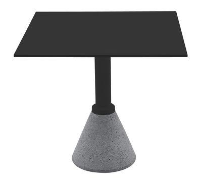 Outdoor - Tavoli  - Tavolo quadrato One Bistrot - 79 x 79 cm di Magis - Nero 79 x 79 cm - Alluminio, Calcestruzzo, HPL