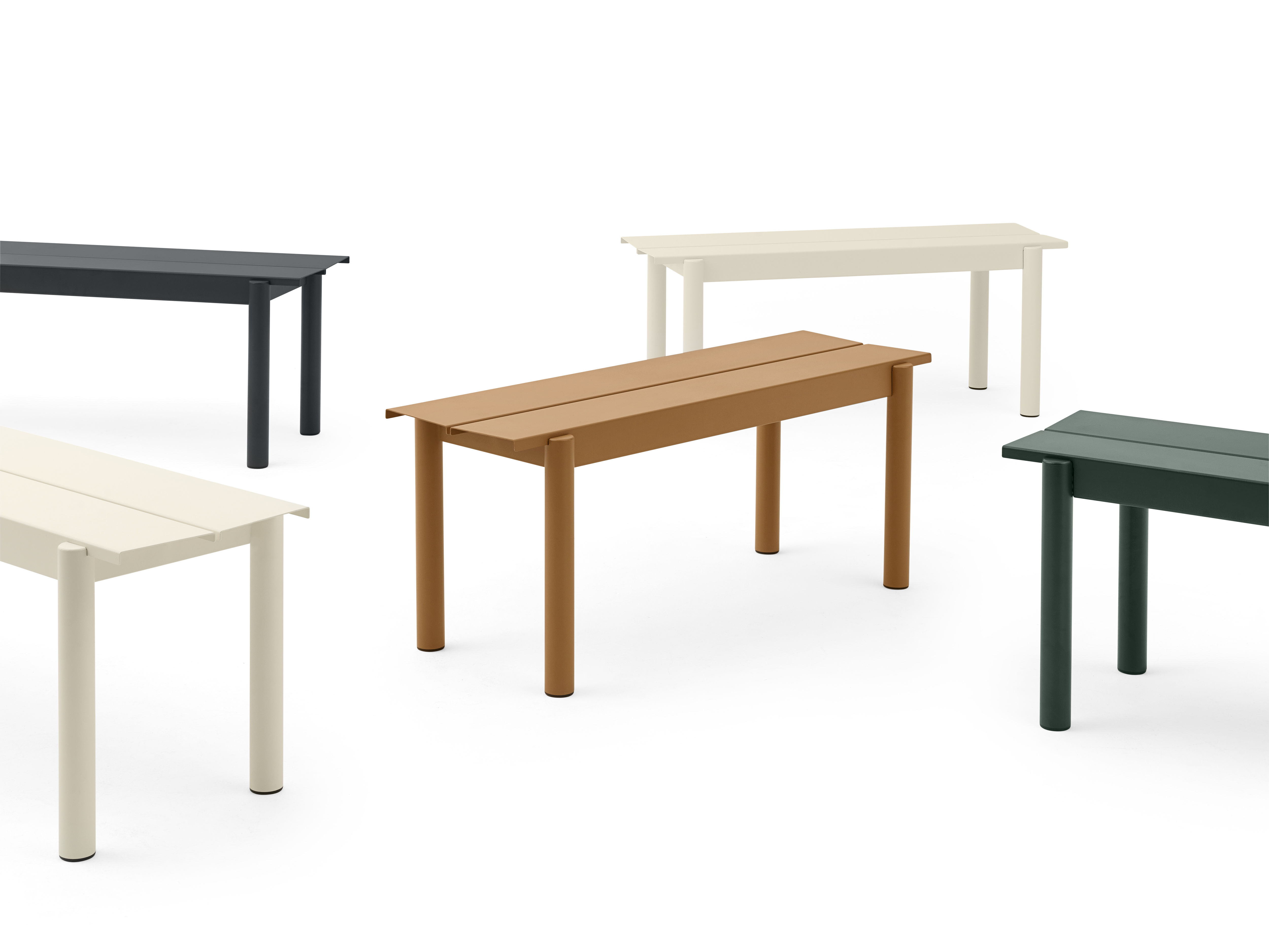 Panchina linear di muuto nero made in design for Arredamento made in china