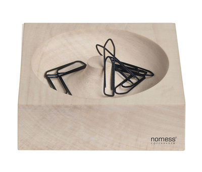 Accessories - Desk & Office Accessories - Wooden Paper clip holder - Magnetic by Nomess - Natural Wood - Solid maple