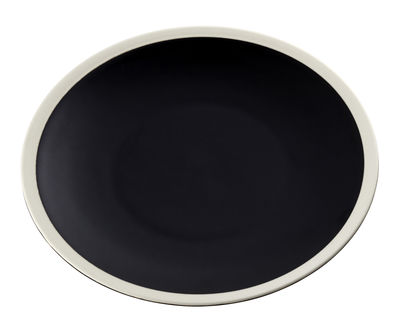 Tableware - Plates - Sicilia Plate - Ø 26 cm by Maison Sarah Lavoine - Black / White - Painted enameled stoneware