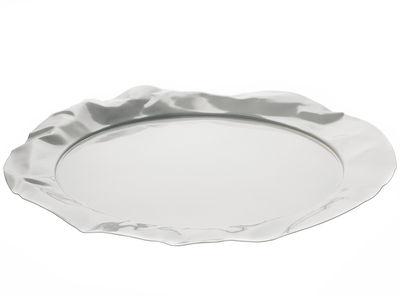 Plateau Foix / Ø 44 cm - Alessi blanc en métal
