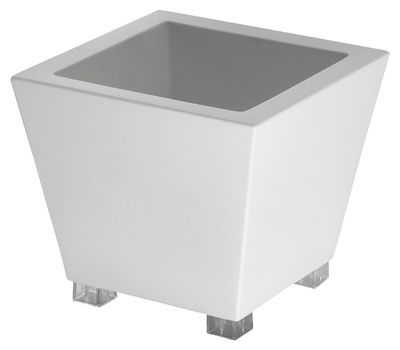 Pot de fleurs Kabin 50 - Serralunga blanc en matière plastique