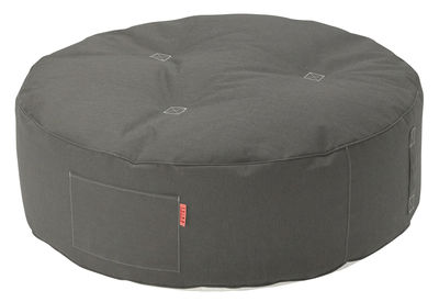 Furniture - Poufs & Floor Cushions - Full Moon Pouf - Ø 115 cm by Trimm Copenhagen - Grey - Cloth