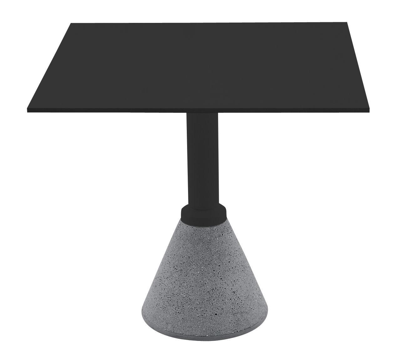 Outdoor - Tische - One Bistrot quadratischer Tisch 79 x 79 cm - Magis - 79 x 79 cm - schwarz - Aluminium, Beton, HPL