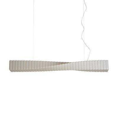 Illuminazione - Lampadari - Sospensione Spin - / L 125 cm - Polietilene di Slide - Vaniglia - Polietilene