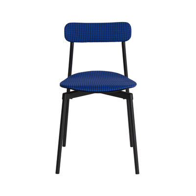 Furniture - Chairs - Fromme Soft Stacking chair - / Fabric by Petite Friture - Blue - Aluminium, Foam, Polyester fabric