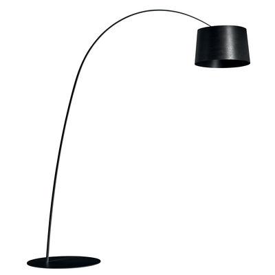 Leuchten - Stehleuchten - Twiggy My Light Stehleuchte / LED - Bluetooth / H 195 bis 215 cm - Foscarini - Schwarz - Glasfaser, lackiertes Metall, Verbund-Werkstoffe