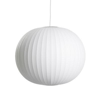 Luminaire - Suspensions - Suspension Bubble Ball / Medium- Motifs verticaux - Hay - Ø 48 cm / Blanc cassé - Acier