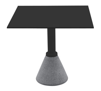 Jardin - Tables de jardin - Table de jardin One Bistrot / 79 x 79 cm - Magis - Noir 79 x 79 cm - Aluminium, Béton, HPL