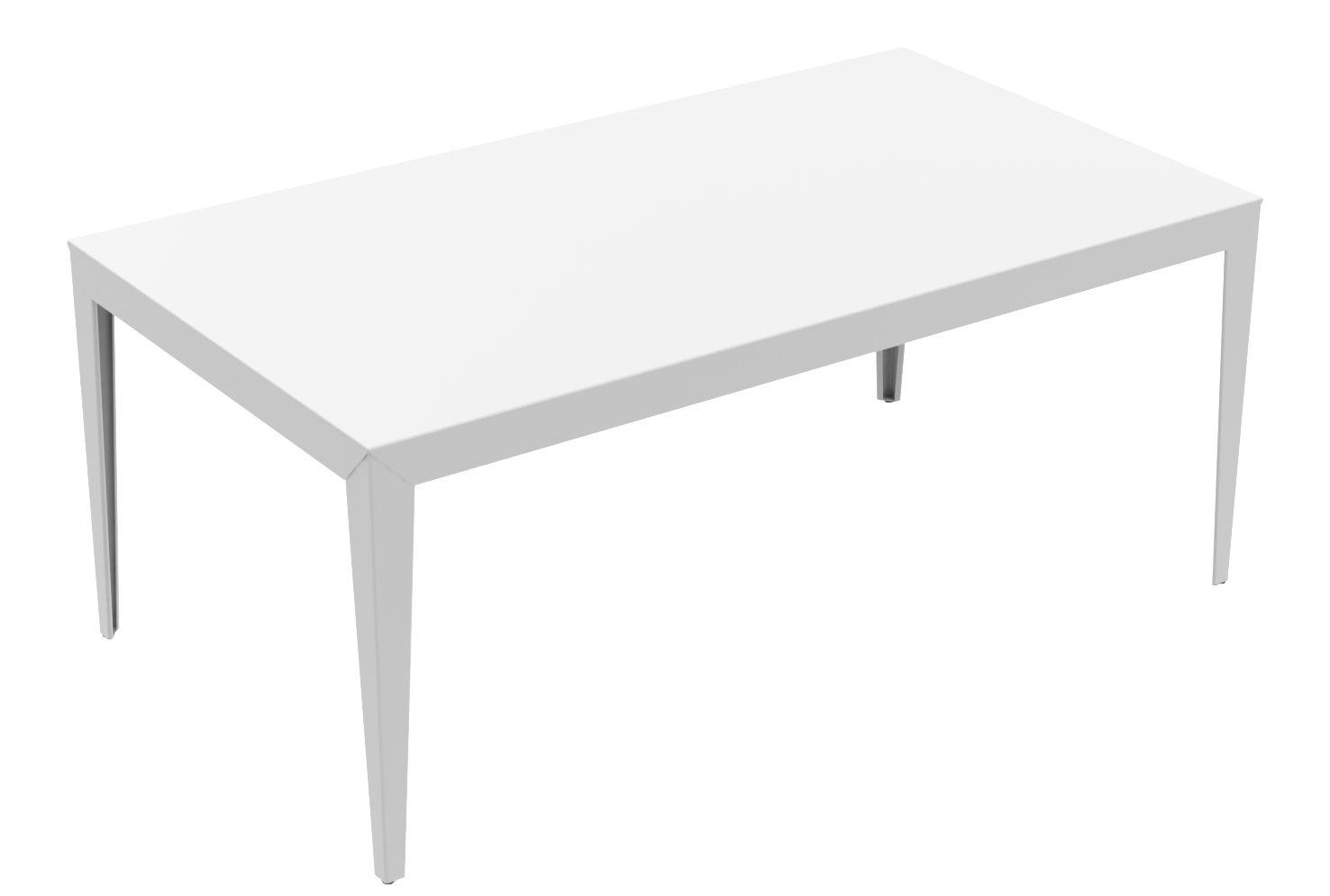 Mobilier - Tables - Table rectangulaire Zef / 180 x 90 cm - Matière Grise - Blanc - Acier peint époxy