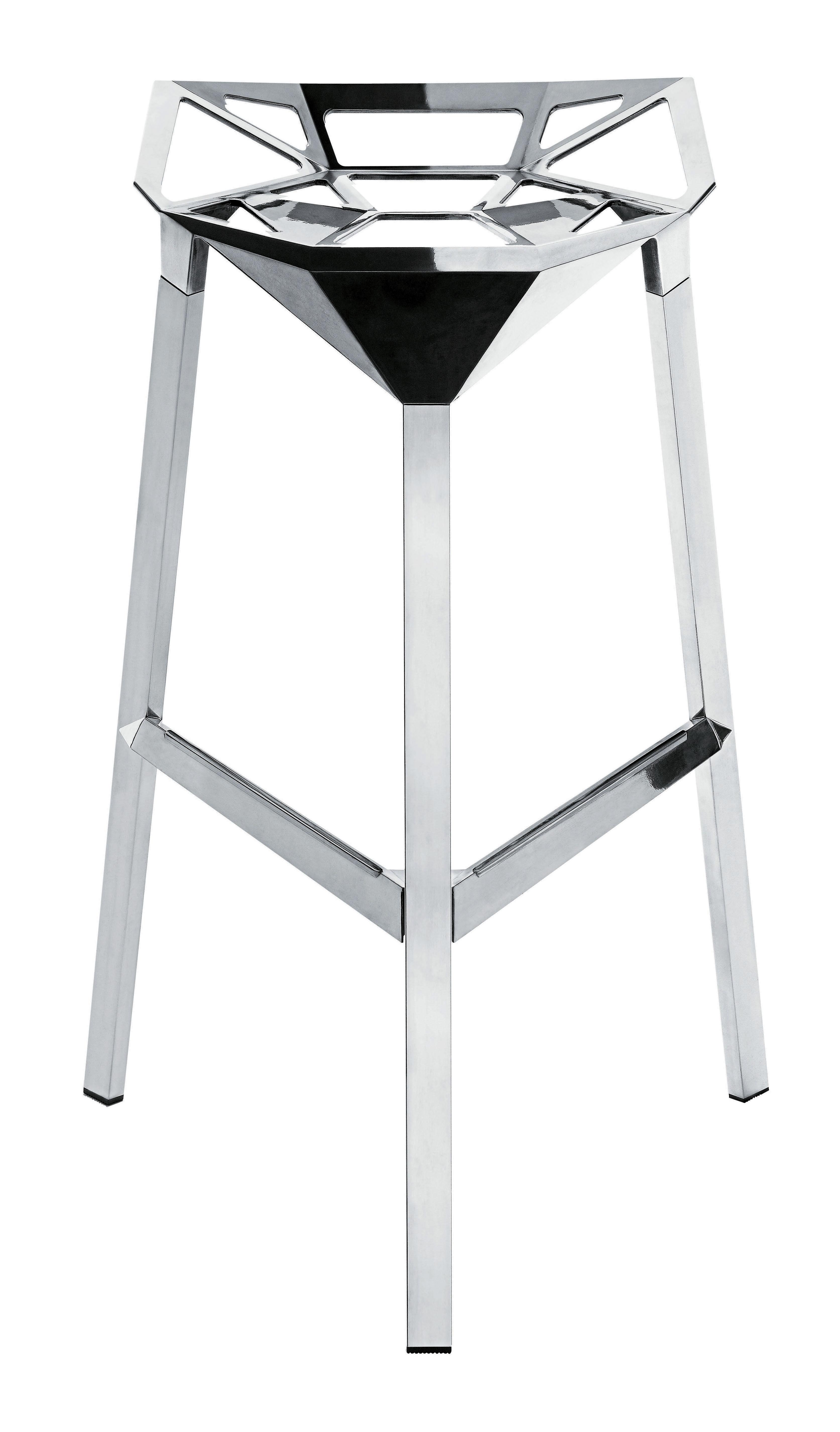 Mobilier - Tabourets de bar - Tabouret de bar Stool One / H 77 cm - Version Alu poli - Magis - Alu poli - Aluminium