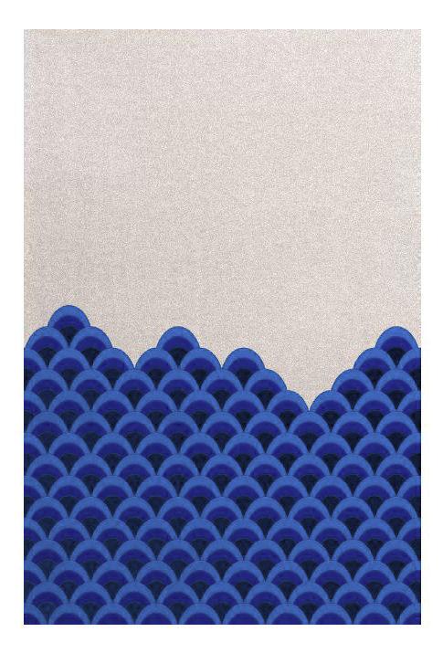 Déco - Tapis - Tapis Marin / 240 x 170 cm - Hartô - Bleu & Blanc - Laine