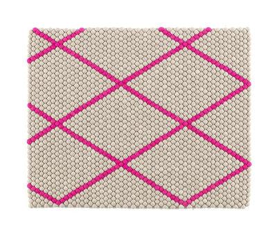 Mobilier - Tapis - Tapis S&B Dot 100 x 80 cm - Hay - Rose flashy / Gris clair - Laine