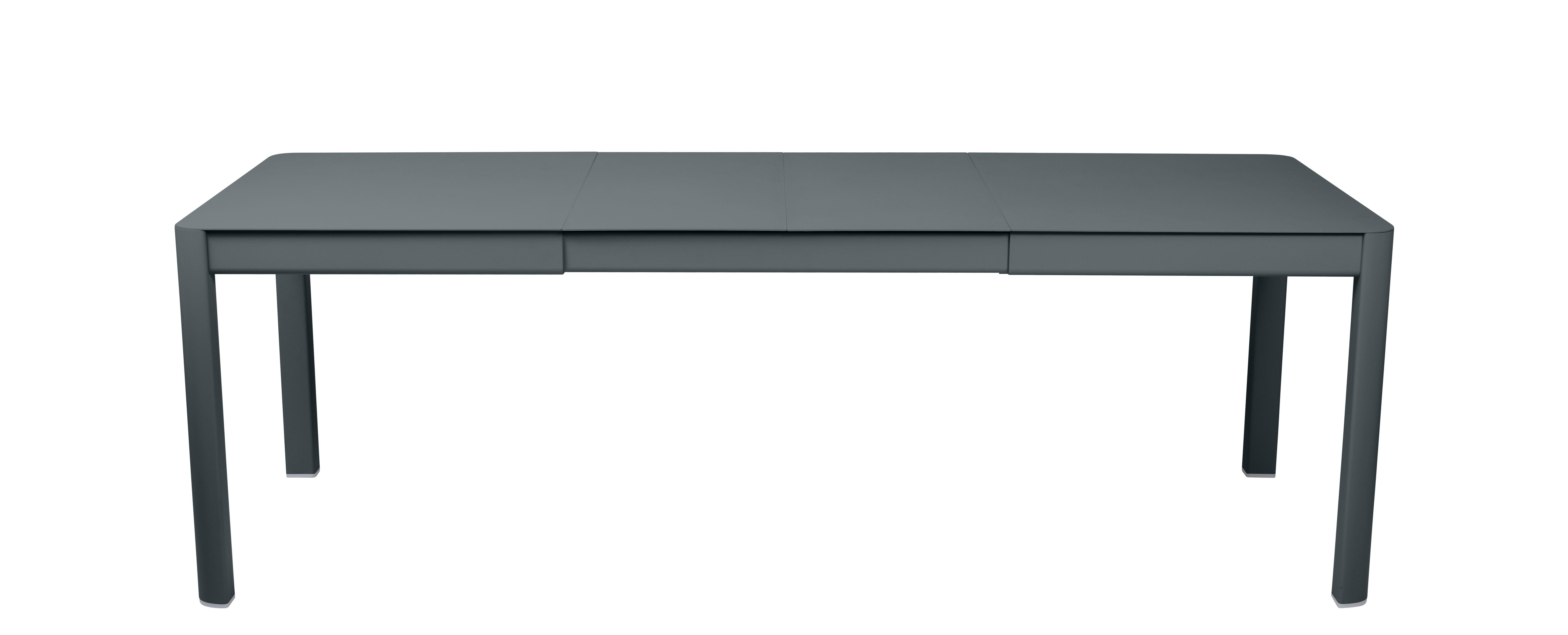 Outdoor - Tavoli  - Tavolo con prolunga Ribambelle Medium - / L 149 a 234 cm - 6 a 10 persone di Fermob - Grigio temporale - Alluminio