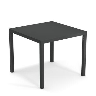 Outdoor - Tavoli  - Tavolo quadrato Nova - / Metallo - 90 x 90 cm di Emu - Ferro invecchiato - Acciaio verniciato