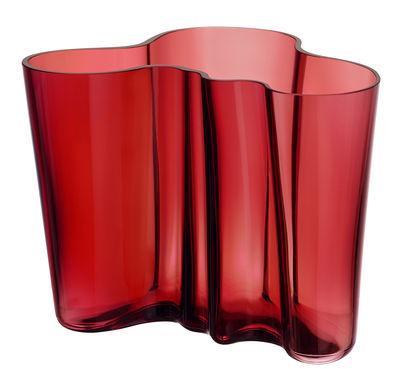 Vase Aalto / H 16 cm - Iittala rouge cranberry en verre