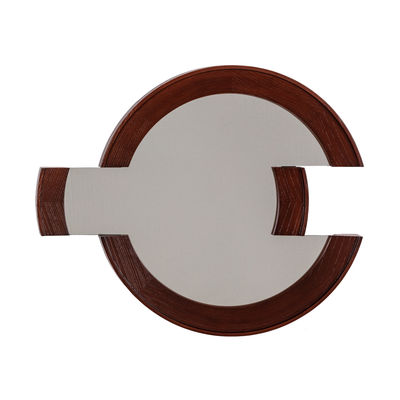 Decoration - Mirrors - Double Sense Wall mirror - / 72 x 60 cm by Seletti - Brown - Expanded polyurethane, Glass