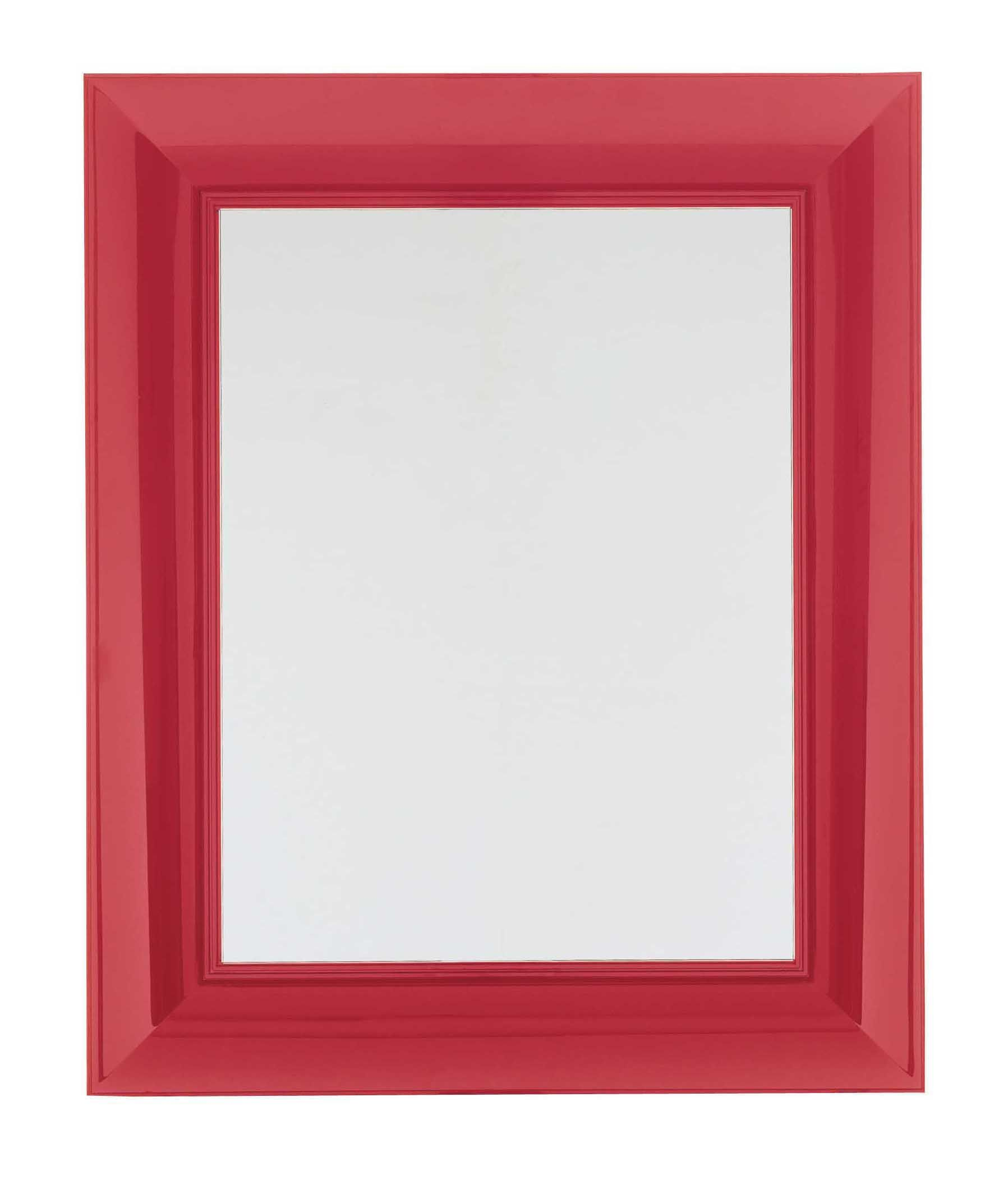 Furniture - Mirrors - Francois Ghost Wall mirror - Large - 88 x 111 cm by Kartell - Red - Polycarbonate