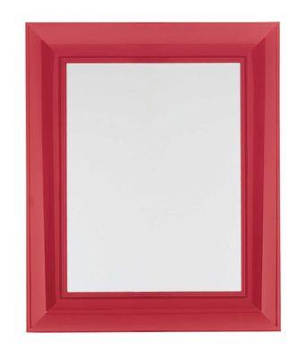 Möbel - Spiegel - Francois Ghost Wandspiegel Groß - 88 x 111 cm - Kartell - Rot - Polykarbonat