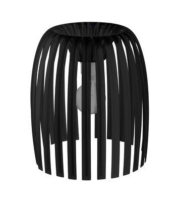 Abat-jour Josephine Medium / Ø 31 x H 34 cm - Koziol noir opaque en matière plastique