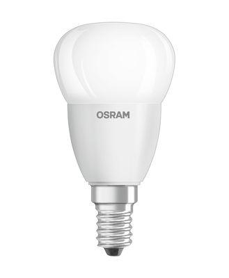 Ampoule LED E14 avec radiateur / Sphérique dépolie - 5,7W=40W (2700K, blanc chaud) - Osram blanc en verre
