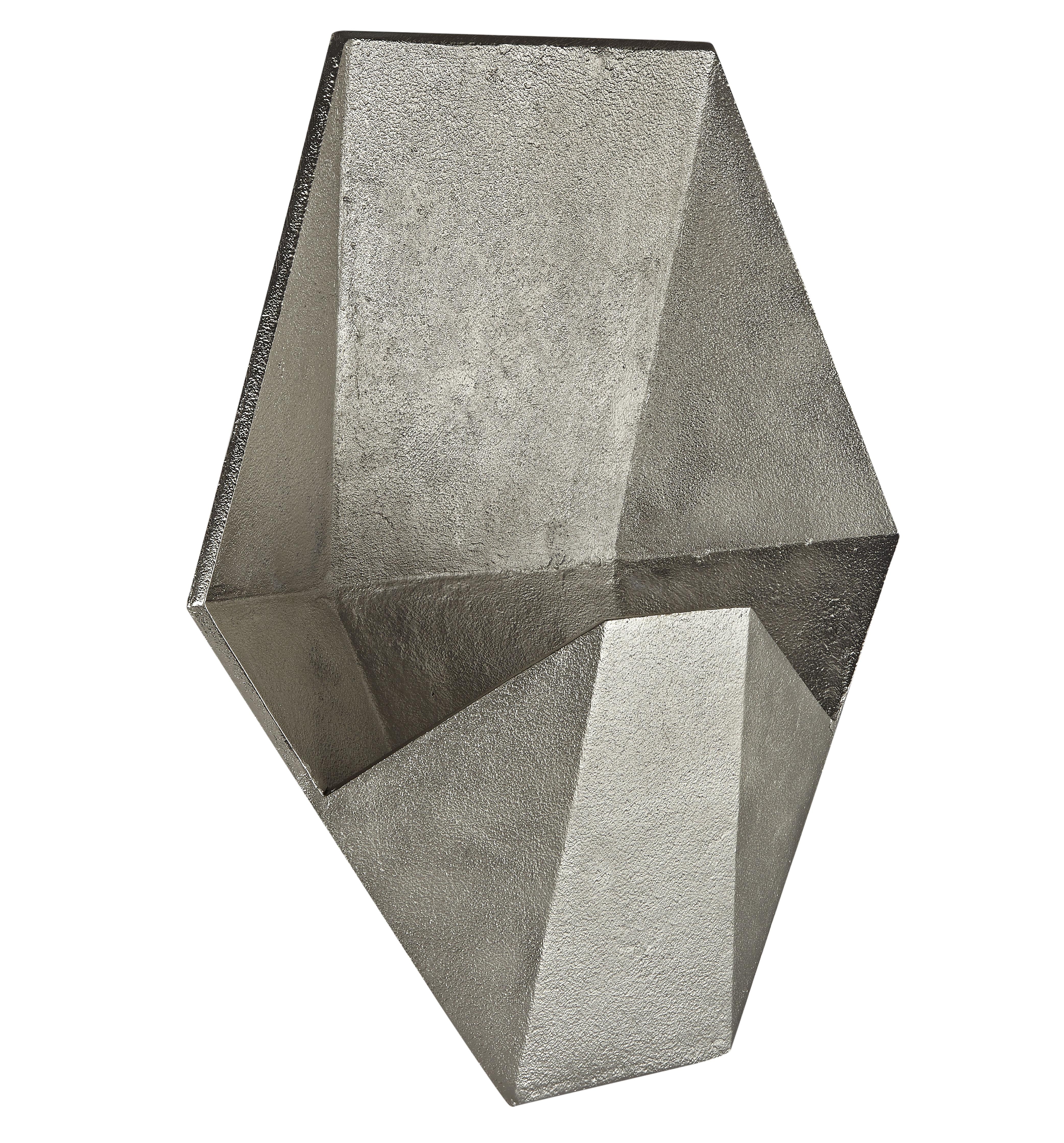 Luminaire - Appliques - Applique Gem / L 40 x H 47 cm - Tom Dixon - Nickel - Aluminium plaqué nickel