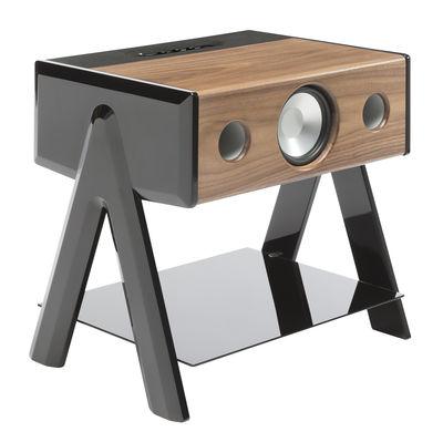 Accessories - Speakers & Audio - Cube Bluetooth speaker - Thruster 2.1 by La Boîte Concept - Walnut / Black - Tinted glass, Walnut