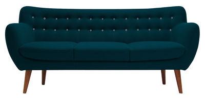 Canapé droit Coogee / 3 places - L 181 cm - Sentou Edition bleu ciel,bleu canard en tissu