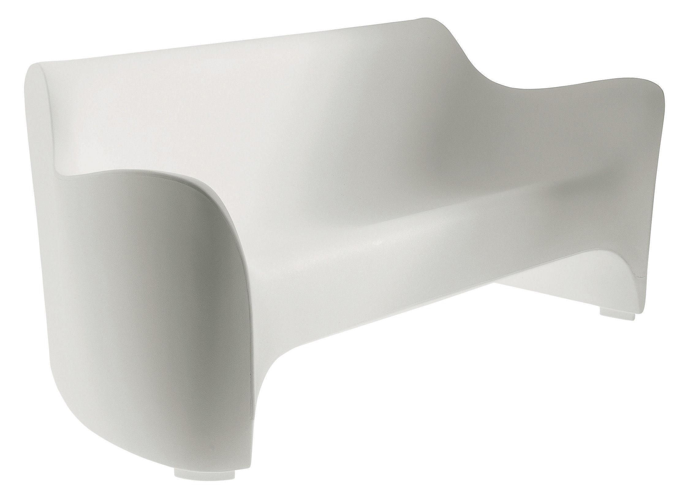 Jardin - Canapés - Canapé droit Tokyo Pop / L 177  cm - Driade - Blanc - Polyéthylène