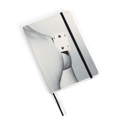 Carnet Toiletpaper / Two of spades - Large 21 x 14 cm - Seletti blanc,gris,noir en papier